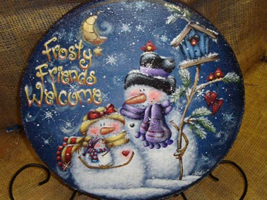 Frosty Friends Welcom Stepping Stone